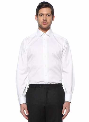 Eton Eton  Modern Yaka Gömlek 101612211 Beyaz